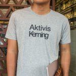 T-Shirt Akvtivis Kerning (LIGHT GRAY)