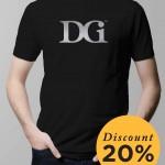 T-Shirt DGI Silver on Black