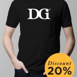 T-Shirt DGI White on Black