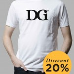 T-Shirt DGI Black on White