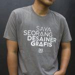 T-Shirt Saya Seorang Desainer Grafis (CHARCOAL)